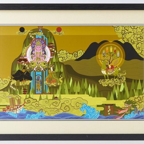 イスム アートライブラリイスム HAKUジクレ pop'n Buddha 日本曼荼羅