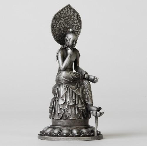 TanaCOCORO[掌] ブロンズ製 菩薩半跏像